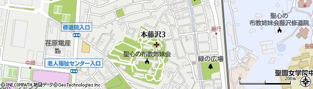 神奈川県藤沢市本藤沢周辺の地図