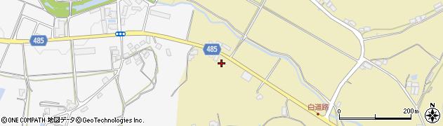 京都府綾部市白道路町(五反田)周辺の地図