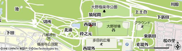 愛知県一宮市浅井町大野(西新田)周辺の地図