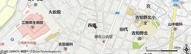 愛知県江南市勝佐町(西郷)周辺の地図