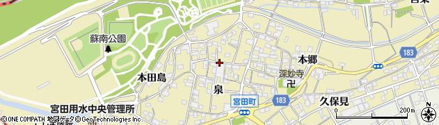 愛知県江南市宮田町(泉)周辺の地図
