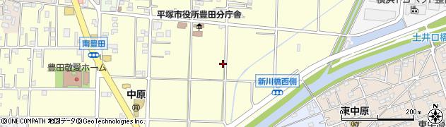 神奈川県平塚市南豊田周辺の地図