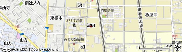 愛知県一宮市北方町北方(沼田)周辺の地図