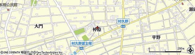 愛知県江南市村久野町(仲原)周辺の地図