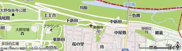 愛知県一宮市浅井町河田(寺浦新田)周辺の地図