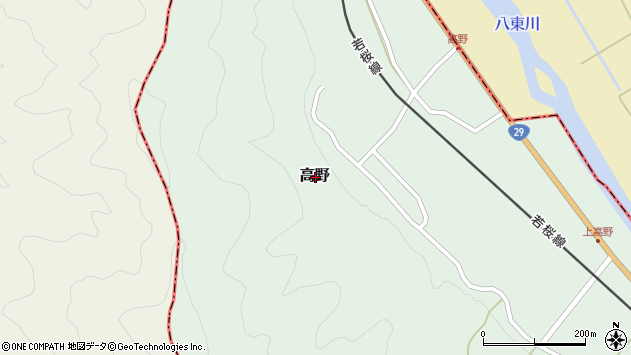 〒680-0712 鳥取県八頭郡若桜町高野の地図