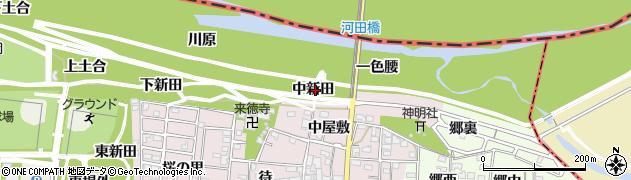 愛知県一宮市浅井町河田(中新田)周辺の地図