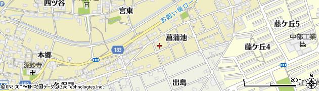 愛知県江南市宮田町(菖蒲池)周辺の地図