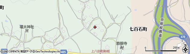 京都府綾部市上八田町(鏡石)周辺の地図