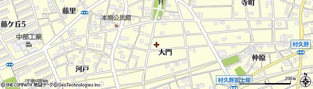 愛知県江南市村久野町(大門)周辺の地図
