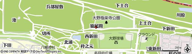 愛知県一宮市浅井町大野(猿尾間)周辺の地図