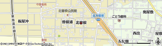 愛知県一宮市北方町北方(北曽根)周辺の地図