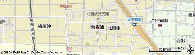 愛知県一宮市北方町北方(曽根浦)周辺の地図
