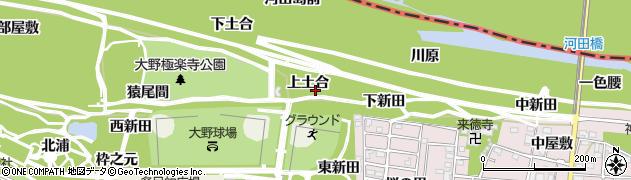 愛知県一宮市浅井町大野(上土合)周辺の地図