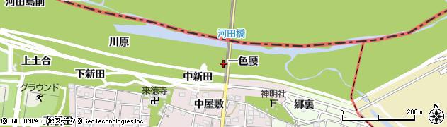 愛知県一宮市浅井町河田(一色腰)周辺の地図