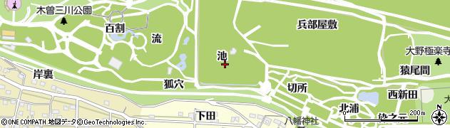愛知県一宮市浅井町極楽寺(池)周辺の地図