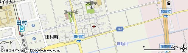滋賀県長浜市田村町周辺の地図
