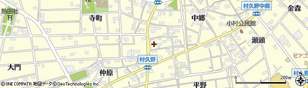 愛知県江南市村久野町周辺の地図