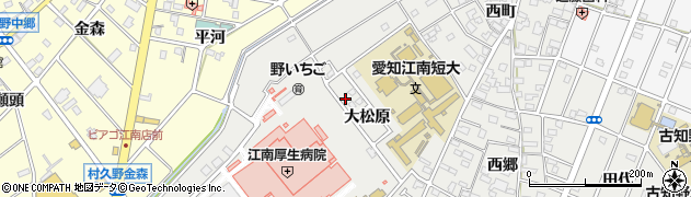 愛知県江南市高屋町(大松原)周辺の地図