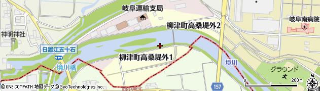 岐阜県岐阜市柳津町高桑堤外周辺の地図