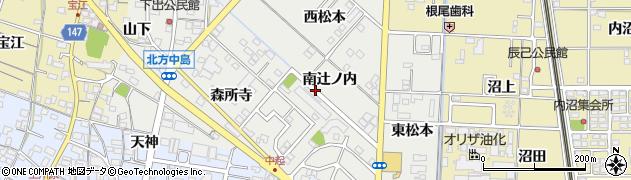 愛知県一宮市北方町中島(南辻ノ内)周辺の地図