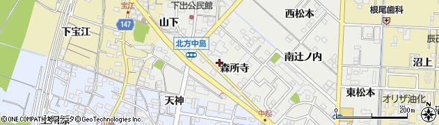 愛知県一宮市北方町中島(森所寺)周辺の地図