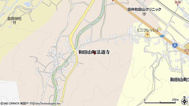 〒669-5245 兵庫県朝来市和田山町法道寺の地図