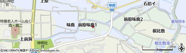 愛知県犬山市前原味鹿周辺の地図