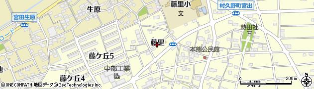 愛知県江南市村久野町(藤里)周辺の地図