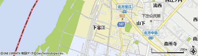 愛知県一宮市北方町北方(下宝江)周辺の地図
