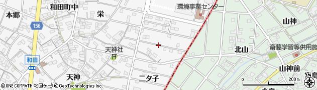 愛知県江南市和田町(二タ子)周辺の地図