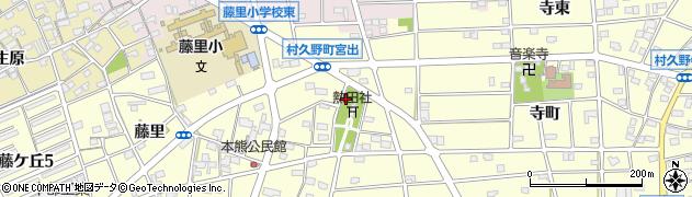 愛知県江南市村久野町(宮出)周辺の地図