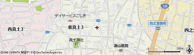 神奈川県平塚市東真土周辺の地図