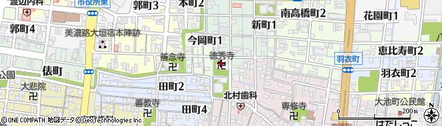 徳秀寺周辺の地図