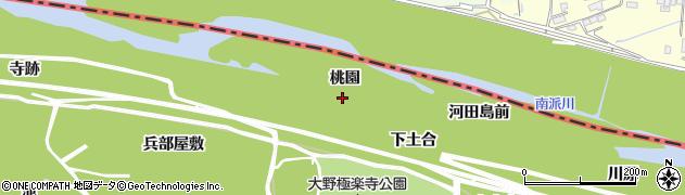 愛知県一宮市浅井町大野(桃園)周辺の地図