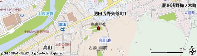 南宮神社周辺の地図