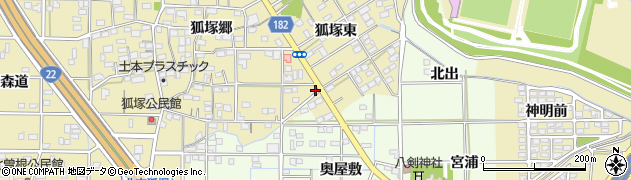 愛知県一宮市北方町北方(南狐塚東)周辺の地図