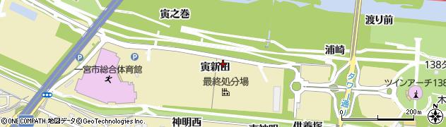 愛知県一宮市光明寺(寅新田)周辺の地図