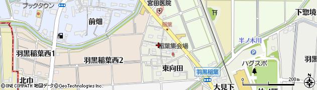愛知県犬山市羽黒(稲葉)周辺の地図
