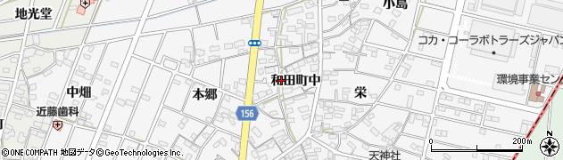 愛知県江南市和田町(中)周辺の地図