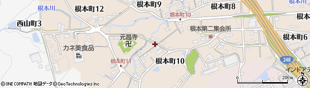 岐阜県多治見市根本町周辺の地図