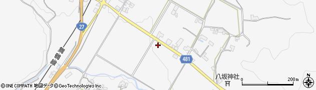 京都府綾部市上杉町(道場)周辺の地図