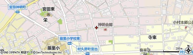 愛知県江南市宮田神明町(旭)周辺の地図