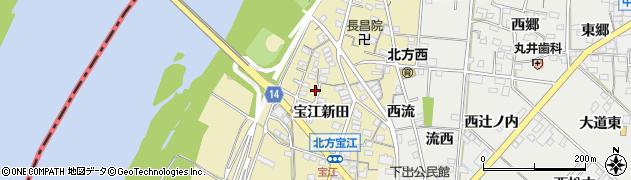 愛知県一宮市北方町北方(宝江新田)周辺の地図