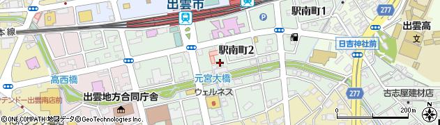 島根県出雲市駅南町周辺の地図