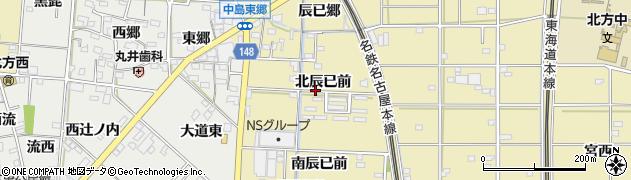 愛知県一宮市北方町北方(北辰已前)周辺の地図