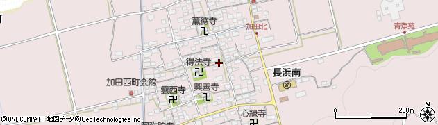 滋賀県長浜市加田町周辺の地図