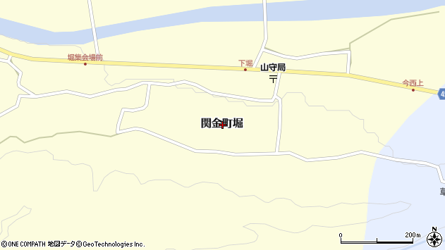 〒682-0422 鳥取県倉吉市関金町堀の地図