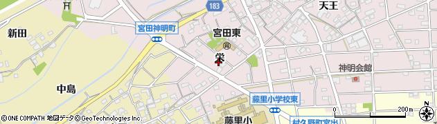 愛知県江南市宮田神明町(栄)周辺の地図