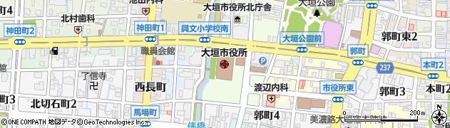 岐阜県大垣市周辺の地図